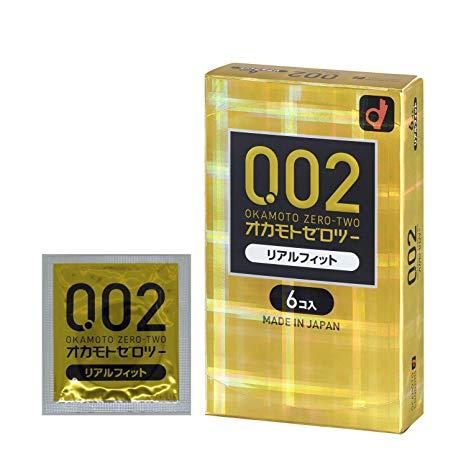【日亞自營】OKAMOTO 岡本 0.02 黃金版 超薄避孕套 6個 日元593(約42港幣)+定期購9折