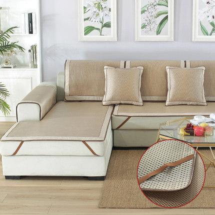 沙發墊夏季冰絲防滑涼席墊夏天款客廳家用冰藤沙發坐墊套罩沙發套 ¥ 29.00