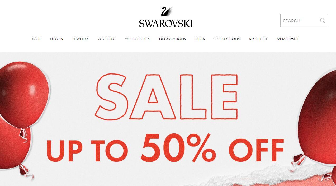 升級!Swarovski加拿大官網年中精選飾品低至5折+額外85折促銷