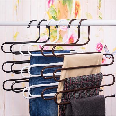 多功能多層褲架褲子衣架家用伸縮褲夾衣櫃收納架子神器¥11.90