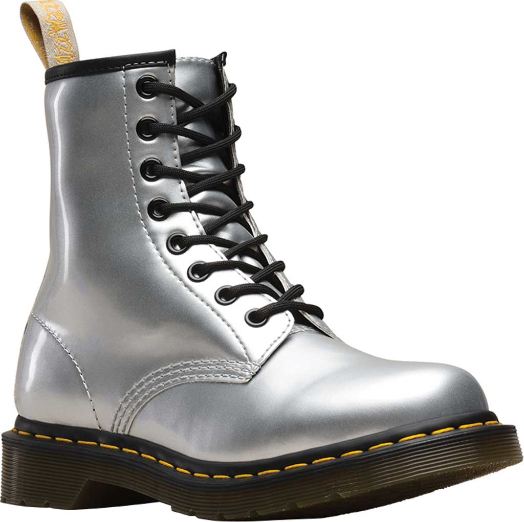 Dr. Martens 1460 COMBAT 8孔馬丁靴 銀色折後價$71.96
