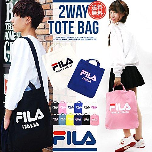 FILA婓樂 百搭單肩包 手提/斜挎男女兩用帆布包 多色可選閃購價1710日元(約¥109)+17積分