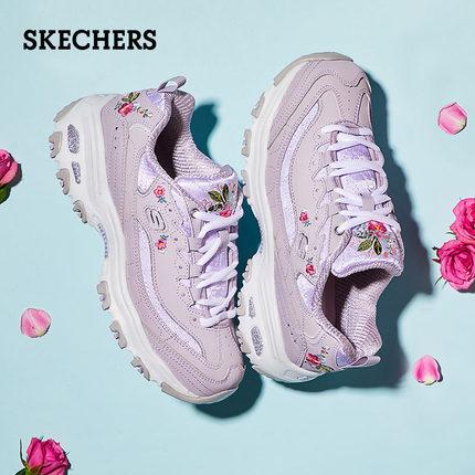 【第二雙半價】Skechers D'Lites 女子刺繡運動鞋 $29.49(約HKD$230元)