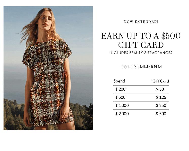 Neiman Marcus:各路美妝時尚大牌 最高享價值$500禮卡
