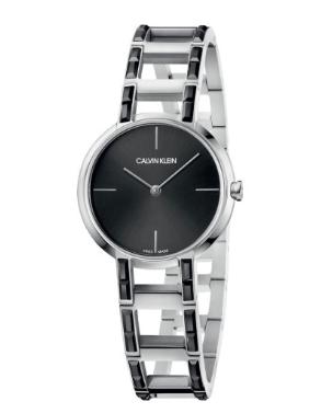 Calvin Klein 卡爾文·克雷恩 Cheers 系列 銀黑色女士時裝腕表 K8NX3UB1折後價$59