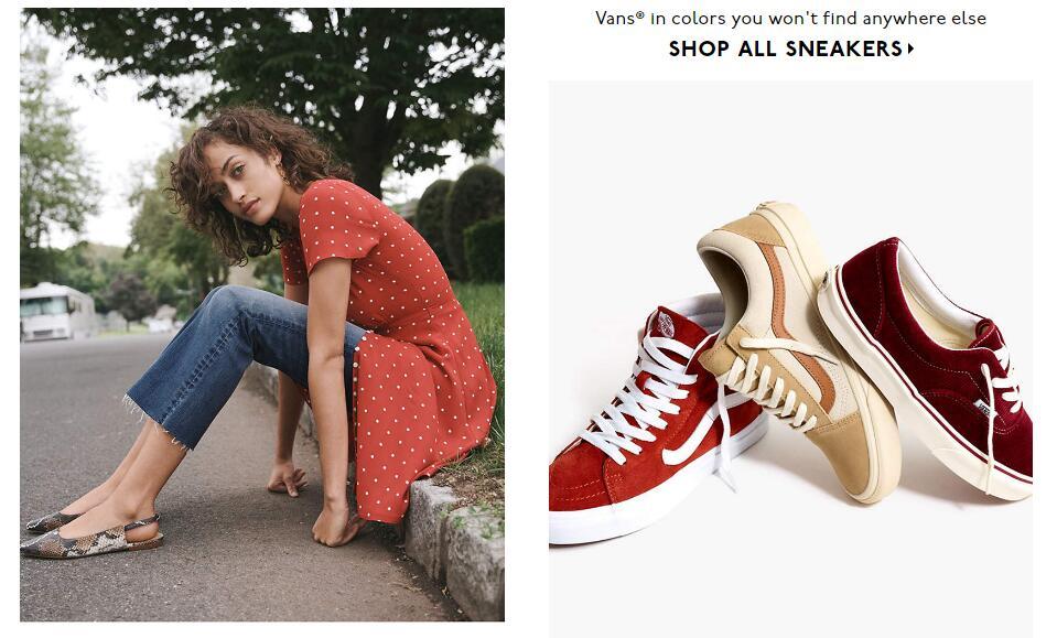 Madewell 折扣區全場服飾、鞋包、配飾大促,低至4折+額外8折+美境免郵