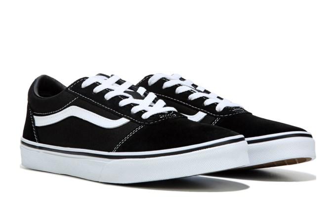 黃金碼補貨!Vans範斯 ward lo大童款板鞋 黑色湊單折後價$28.68