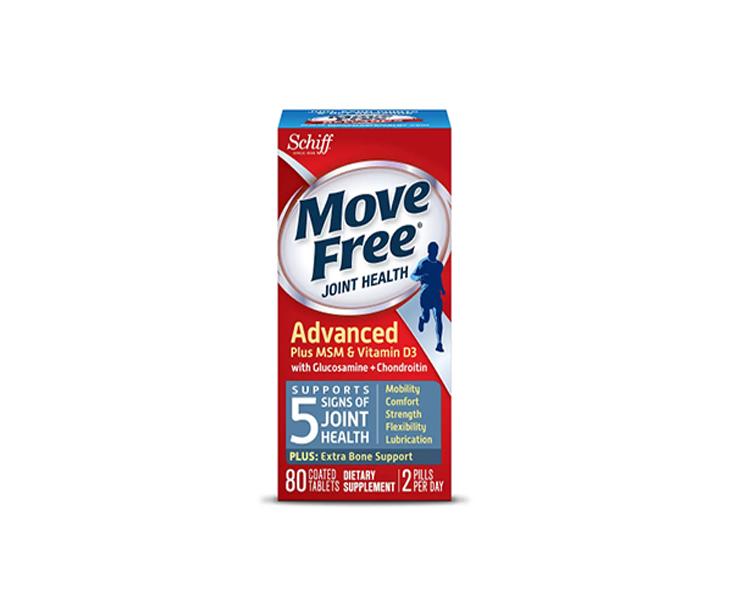 藍盒~【買1送1+額外8.5折】Schiff 旭福 Move Free 氨基葡萄糖維骨力關節寶 80粒