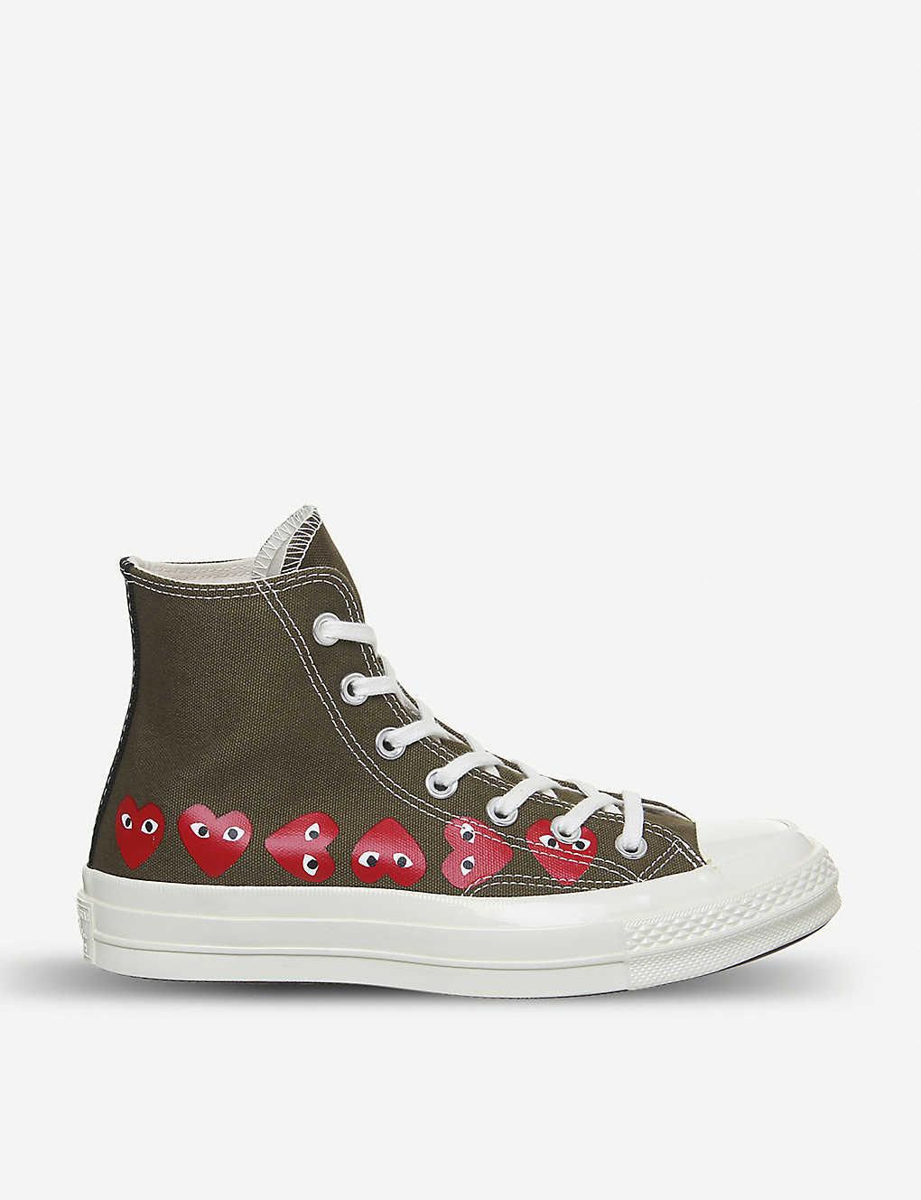Comme des Garçons x Converse 心形印花帆布運動鞋 原價£115,現特價£92.16