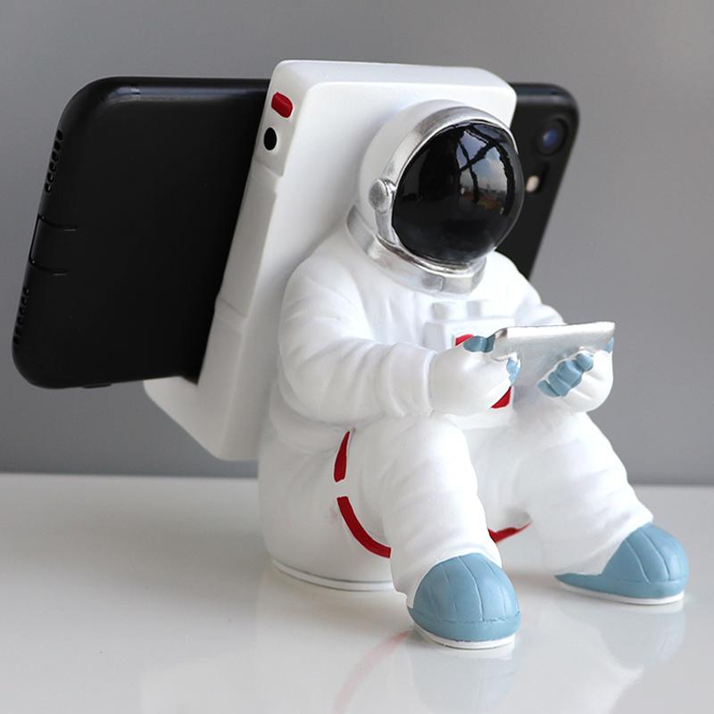 宇航員太空人蘋果iPad平板電腦座支架懶人創意手機支架【在售價】24.00 元