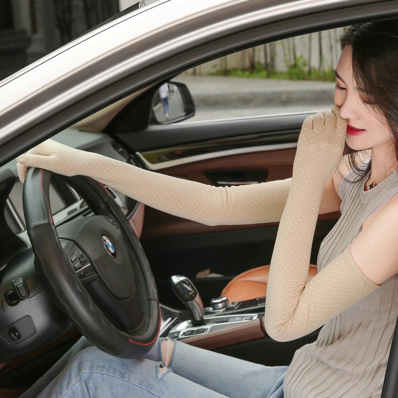 開車防曬手袖護臂夏季手套超薄款女長款手臂袖套 15.00 元