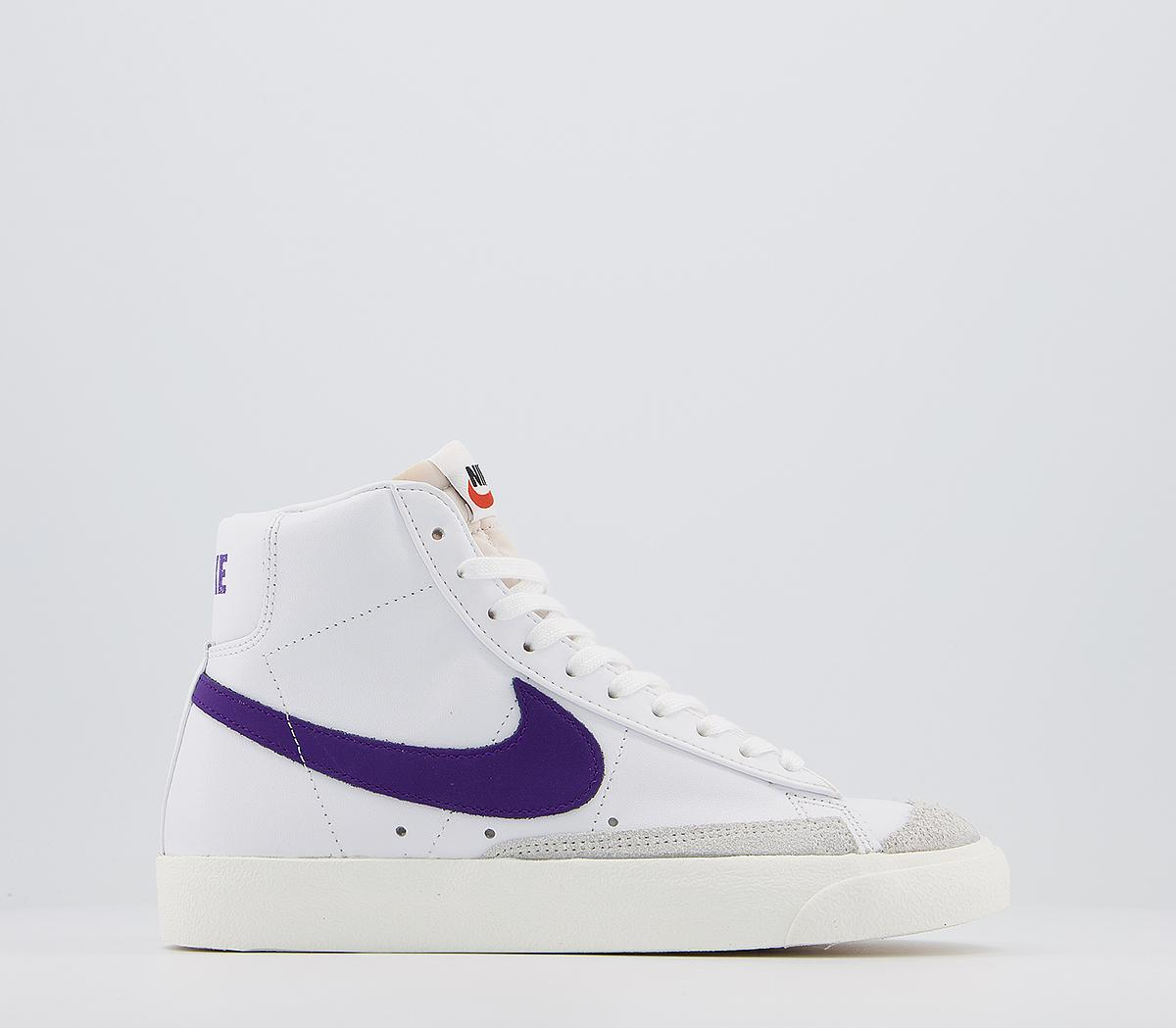 Nike Blazer Mid 77 白紫拼色運動鞋,現特價£89.99(約794元)