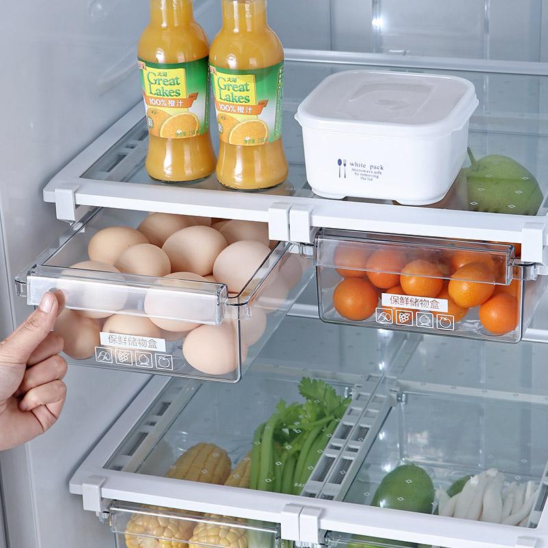 家用保鮮盒食品收納盒抽屜式雞蛋盒冰箱專用儲物盒收納神器【在售價】16.50 元【券後價】11.50元