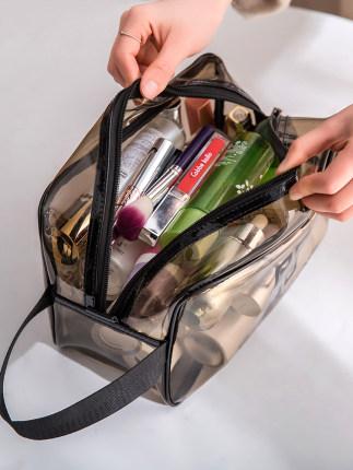 網紅化妝包ins風超火便攜女旅行大容量透明防水洗漱包品收納袋盒 券後價僅3.80元