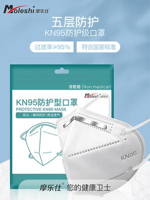 kn95口罩防塵透氣工業粉塵n95口罩白色冬天防風防寒男女獨立包裝 券後價僅4.00元