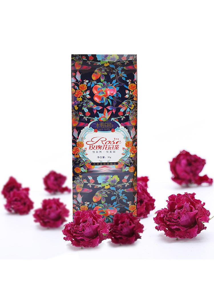玫瑰花茶幹玫瑰平陰花冠茶花茶重瓣玫瑰花瓣食用幹花泡茶大朵