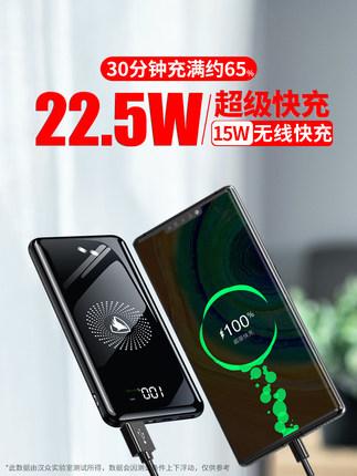 充電寶30000毫安22.5W超級快充大容量磁吸無線40W超薄官方旗艦【券後價】24.90元