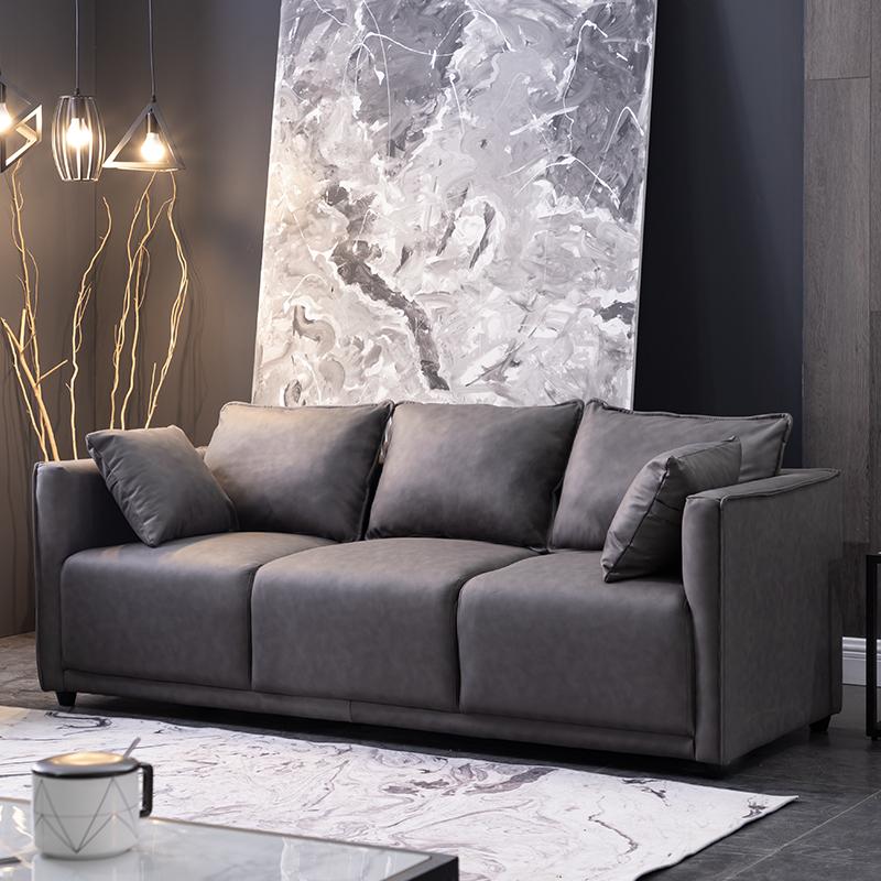 北歐科技布沙發小戶型三人簡約現代公寓客廳臥室雙人輕奢網紅布藝 【券後價】369.00元